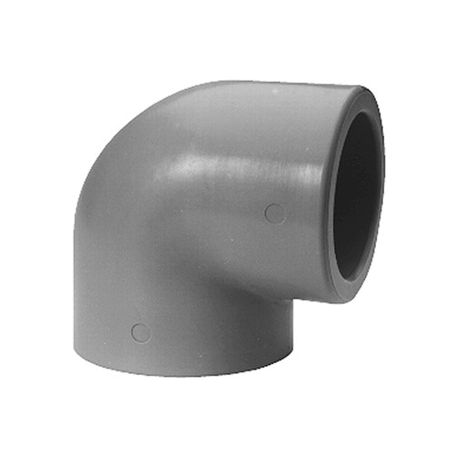 Elbow Connector 90º with Welding Sleeve made of PP