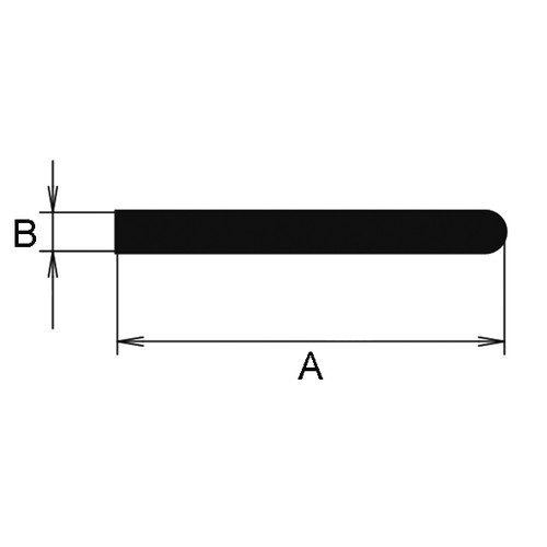 Rectangular Profile made of CR - with round shoulder