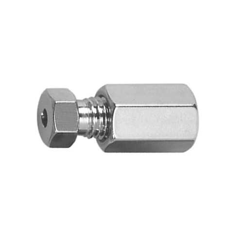 Straight Capillary Coupling with Female Thread made of Stainless Steel