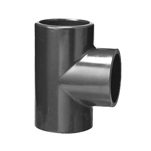 T-Shaped Connector with Bonded Socket Joint made of PVC-U