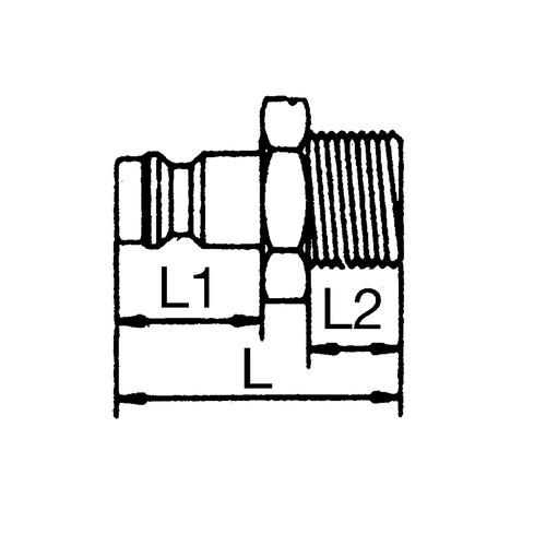 Mini-Schnellverschluss-Stecker, NW 1,8 mm