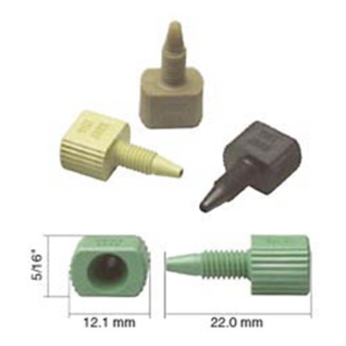 Straight Capillary Connector with Male Thread made of PEEK - one-piece