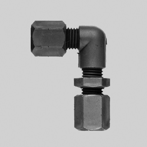 Elbow Pipe Connector made of PP, PVDF or PTFE - Bulkhead