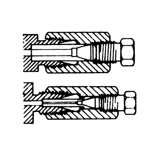 Straight Capillary Reducing Adapter made of Stainless Steel