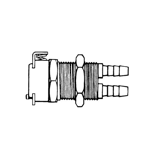 Multilumen-Schnellverschlusskupplung aus POM - Schalttafel