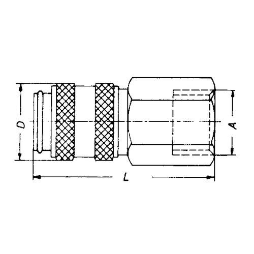 Schnellverschlusskupplung aus Edelstahl, NW 2,7 mm - zweiseitig absperrend