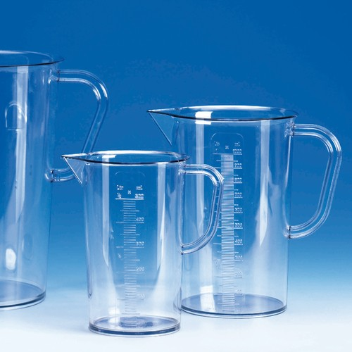 Beaker with Handle made of SAN - transparent
