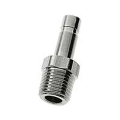 Straight Adapter made of Stainless Steel with Male Thread