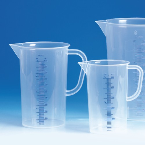 Beaker with Handle made of PP - cylindrical, high