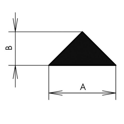 Triangular Profile made of CR