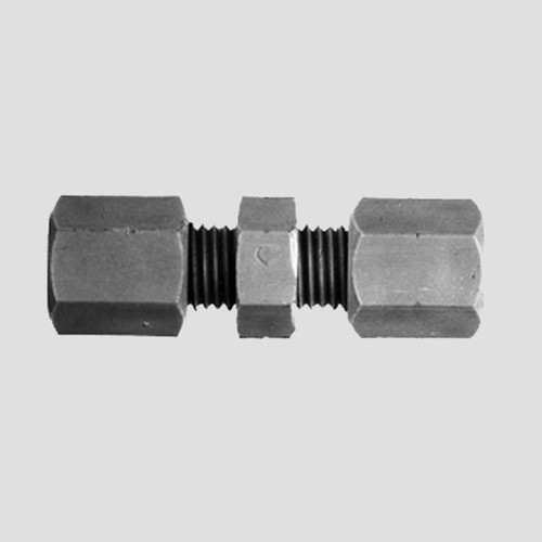Straight Pipe Connector made of PP, PVDF or PTFE
