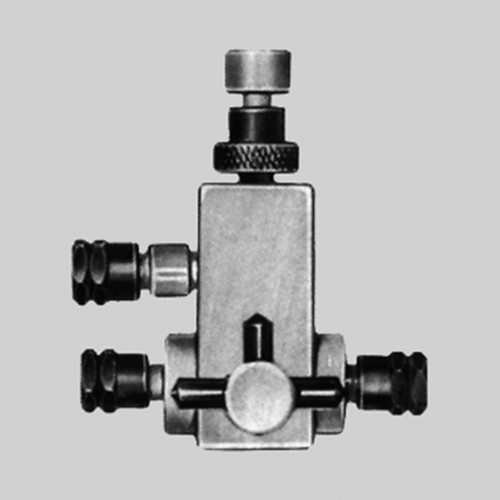2 Way Fine Regulating Valve made of PTFE for Tubing (Pipes) of Equal Size