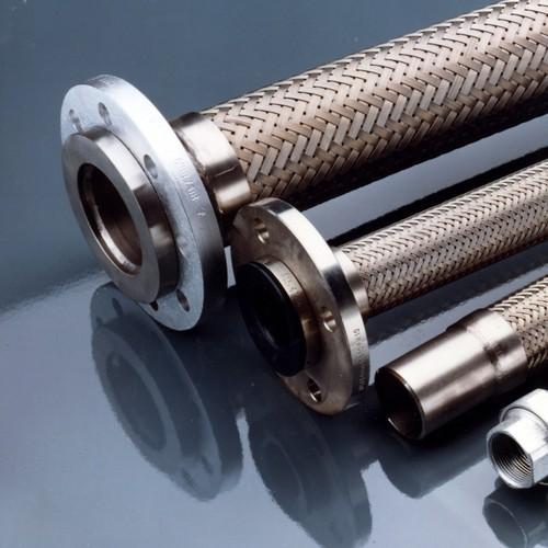 Edelstahl-Vakuumschlauch - mit Kleinflansch