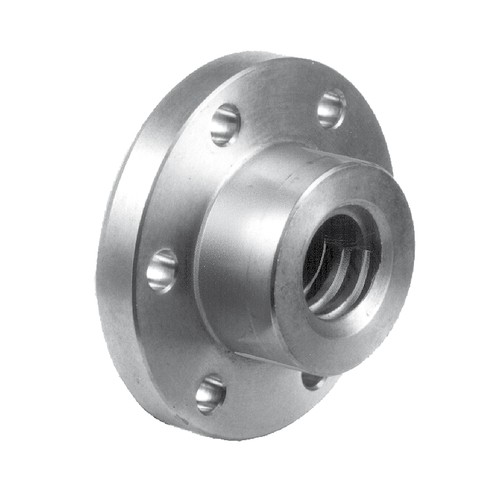 Trapezoidal-Threaded Nut - with flange, ready-to-mount