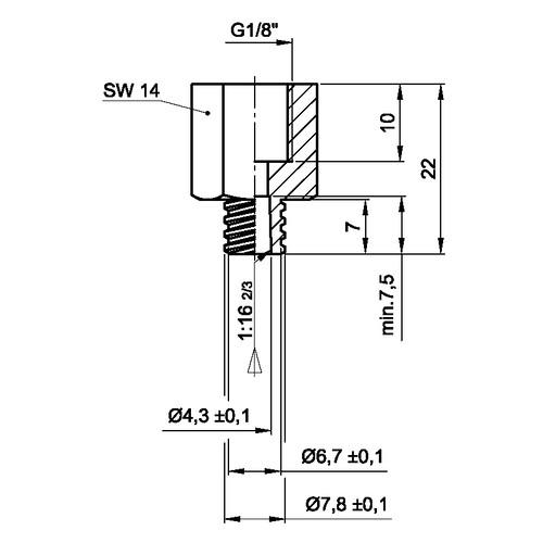 Luer-Lock-Adapter (weiblich) mit Innengewinde