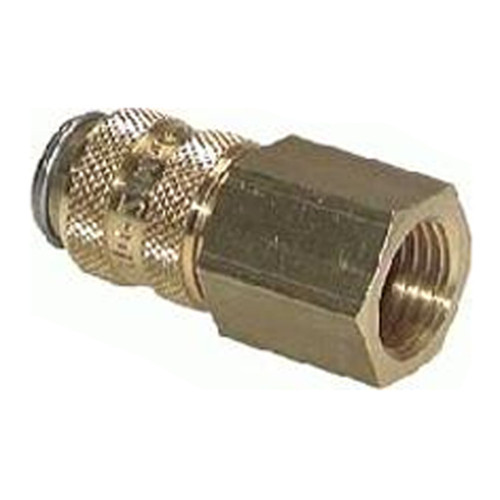 Quick-Disconnect Coupling made of Nickel-Plated Brass, NW 5 mm - shutting-off on both sides