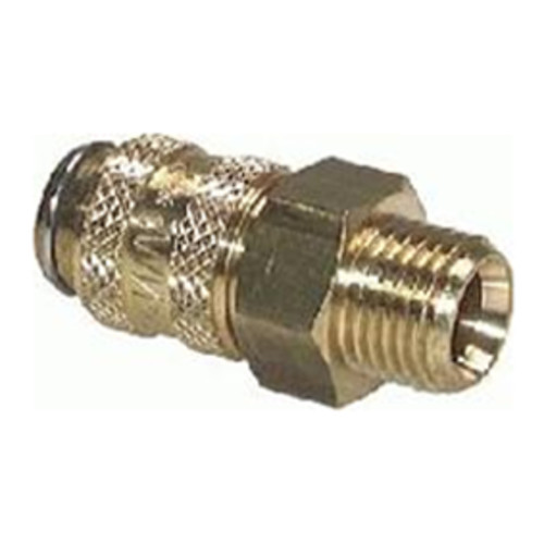 Quick-Disconnect Coupling made of Nickel-Plated Brass, NW 7.2 mm - shutting-off on one side
