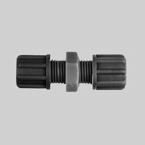 Straight Tube Connector made of PP or PVDF - conductive and antistatic