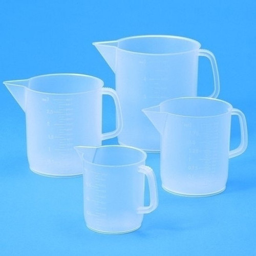 Beaker with Handle made of PP - cylindrical, short