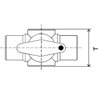 Mehrweg-Kugelhahn aus PP, PVDF oder PFA - gespritzt