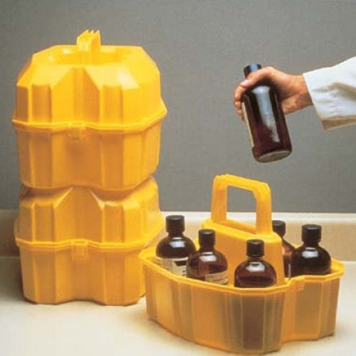 Safety Bottle Carrier made of LDPE