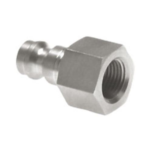 Schnellverschluss-Stecker aus Edelstahl, NW 7,8 mm - einseitig absperrend