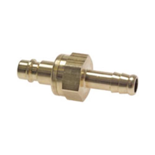 Schnellverschluss-Stecker aus Messing-vernickelt, NW 7,2 mm - zweiseitig absperrend