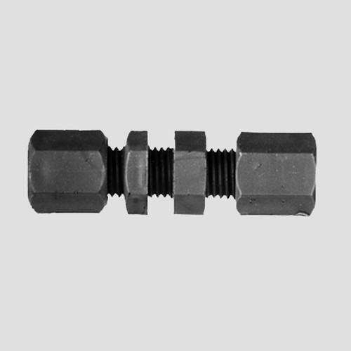 Straight Pipe Connector made of PP, PVDF or PTFE - Bulkhead