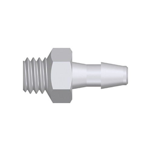 Mini Screw-in Connector with male thread UNF 10-32 - short
