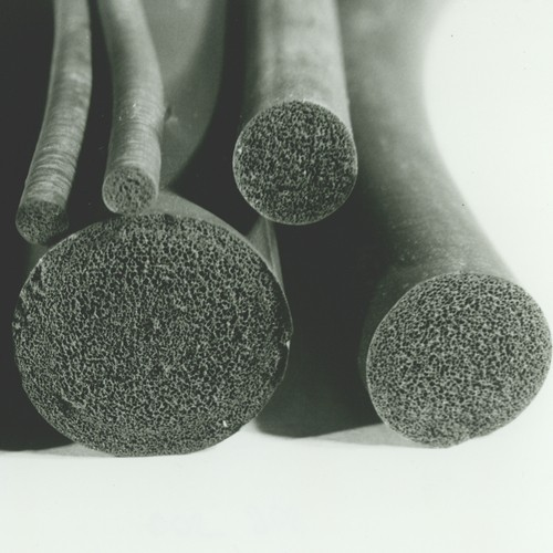 High-Chem Foam Rubber Round Cord made of FPM