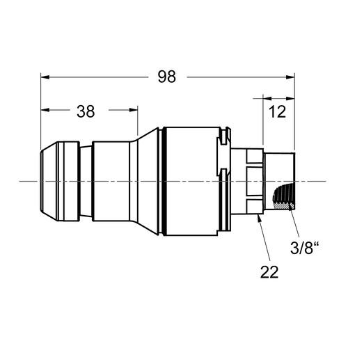 PP-Schnellverschluss-Stecker, NW 9,5 mm - metallfrei