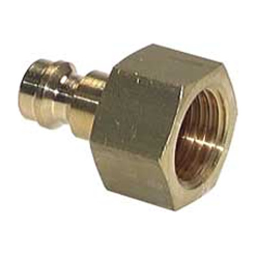 Quick-Disconnect Nipple made of Nickel-Plated Brass, NW 2.7 mm - shutting-off on both sides