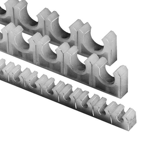 Rohrklemmleiste aus LDPE