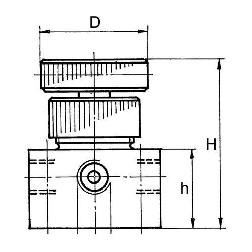 4-Wege-Hahn aus PP, PVDF oder PTFE - Doppel-L-Küken