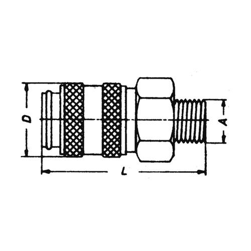 Schnellverschlusskupplung aus Edelstahl, NW 7,4 mm - zweiseitig absperrend