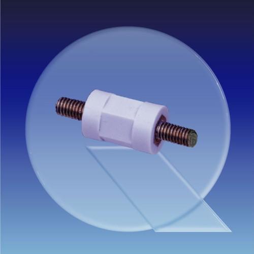 Isolierdistanzbolzen aus PS - zylindrisch, Außengewinde (M3 - M4)