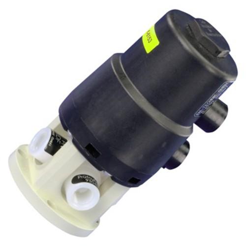 3-Wege-Kugelhahn mit pneumatischem Schwenkantrieb - gespritzt