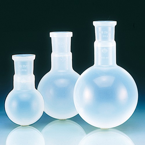 Round-Bottom Flask with Standard Ground-Glass Joint made of PFA