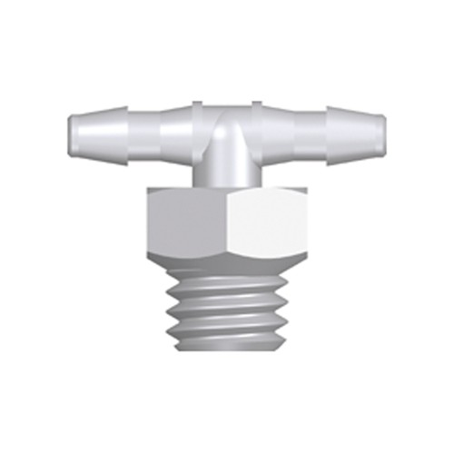 Mini T-Shaped Screw-in Connector with male thread UNF 10-32 - short