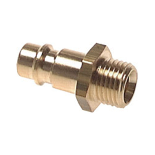 Quick-Disconnect Nipple made of Nickel-Plated Brass, NW 5 mm - shutting-off on both sides