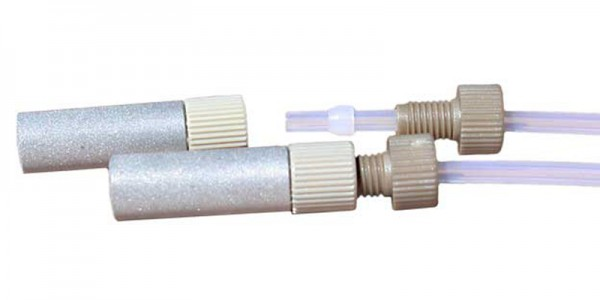 Cylinder Frit made of Stainless Steel - with fitting and ferrule