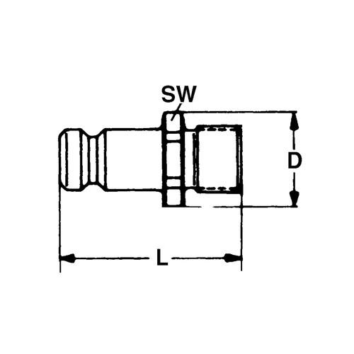 PA-Schnellverschluss-Stecker, NW 6 mm