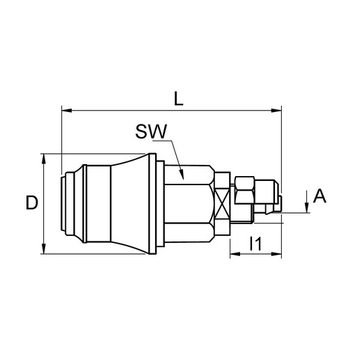 PVDF Quick-Disconnect Coupling, NW 5.0 mm