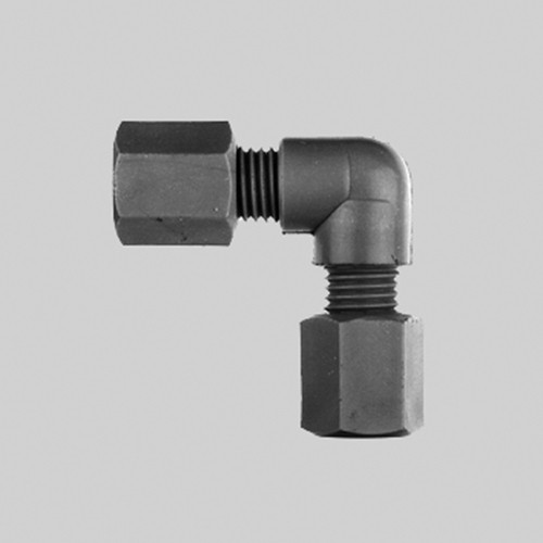 Elbow Pipe Connector made of PP or PVDF - conductive and antistatic