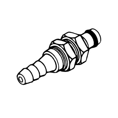 POM-Schnellverschluss-Stecker, NW 6,4 mm - Schalttafel