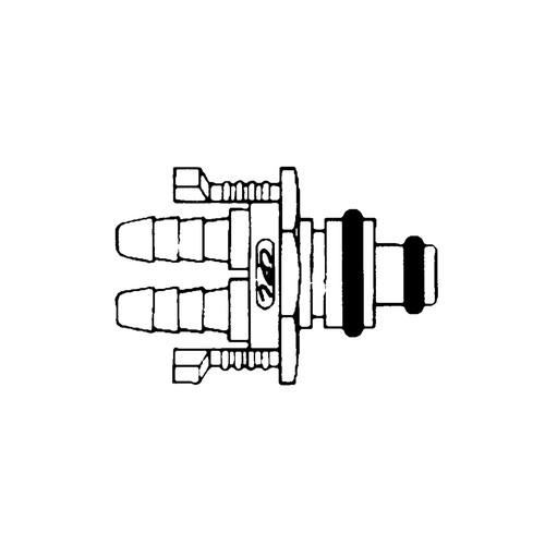 Multilumen-Schnellverschluss-Stecker aus POM