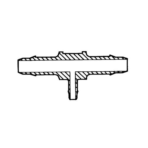 Mini T-Shaped Barb Connector (reduzing) - symmetrical