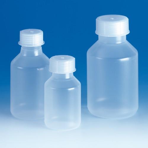 Weithals-Steilbrustflasche aus PP - mit Schraubverschluss