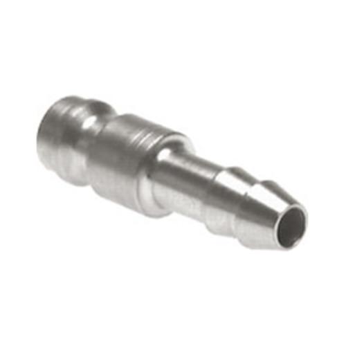 Schnellverschluss-Stecker aus Edelstahl, NW 5 mm - einseitig absperrend