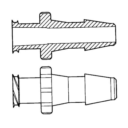 Luer-Lock-Schlauchadapter (weiblich) für weiche Schläuche